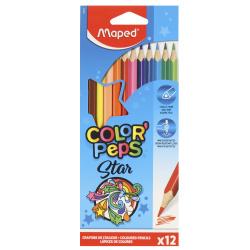 Карандаши цветные 12цв Maped Color'peps трехгранные 183212 европодвес к артонная коробка