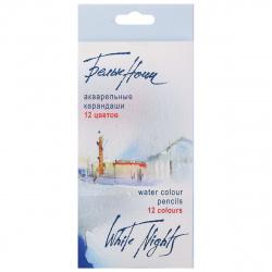 Карандаши цветные акварельные 12цв Невская палитра Белые ночи 158411252 европодвес картонная коробка