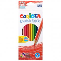 Карандаши цветные 12 цветов, дерево, шестигранный Carioca 40380