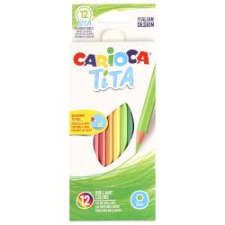 Карандаши цветные 12 цветов, пластик, шестигранный Tita Carioca 42793