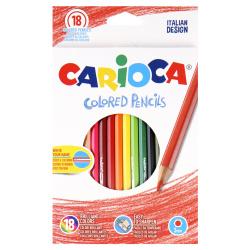 Карандаши цветные 18 цветов, дерево, шестигранный Carioca 41865