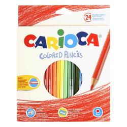 Карандаши цветные 24 цвета, дерево, шестигранный Carioca 40381