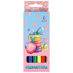 Фломастеры 6 цветов, корпус круглый, конический, смываемые, колпачок вентилируемый Macaroons Pastel КОКОС 210781