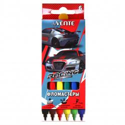 Фломастеры 6цв deVENTE Racing смываемые вент колпачок 5080005 европодвес карт/к