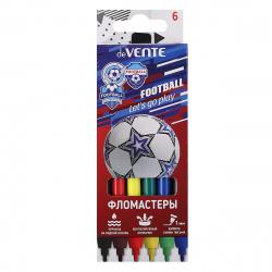 Фломастеры 6цв deVENTE Play Football смываемые вент колпачок 5080107 европодвес карт/к