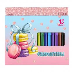 Фломастеры 18цв КОКОС Macaroons Pastel смываемые вент колпачок 210783 европодвес  карт/к
