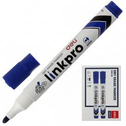 Маркер для доски пулевидный 2мм заправляемый Deli EU00530 синий