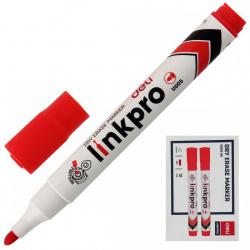 Маркер для доски пулевидный 2мм заправляемый Deli EU00540 красный