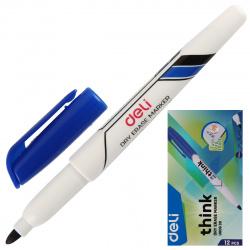 Маркер для доски пулевидный 1-1,5мм Deli EU00630 синий