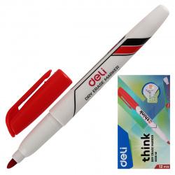 Маркер для доски пулевидный 1-1,5мм Deli EU00640 красный