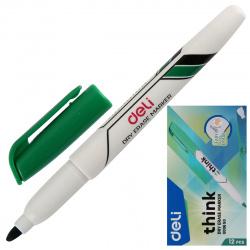 Маркер для доски пулевидный, 1,0-1,5мм, цвет зеленый Deli EU00650