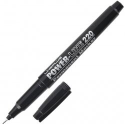 Маркер перманентный пулевидный капиллярный 1мм Line Plus 220 (200UF) черный