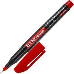 Маркер перманентный пулевидный капиллярный 0,6мм Erich Krause FP-50 37070 красный