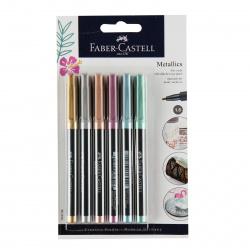 Набор маркер-красок 6цв 1,5мм Faber-Castell Metallics металлик 160706