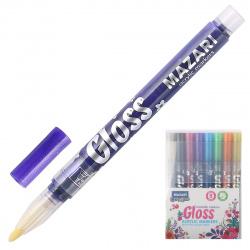 Набор маркер-красок 8цв 1-2мм Mazari GLOSS металлик M-15076-8
