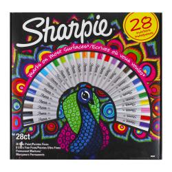 Набор маркеров перманентных 20цв 28шт 0,7-2,0мм SHARPIE BIG PACK PMKR PEACOCK BOX28 PE 2058158