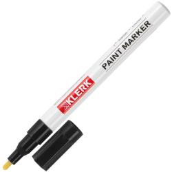 Маркер-краска пулевидный 1-2мм алюминиевый корпус KLERK ZEYAR 170401/ZP-1101/C-01 черный
