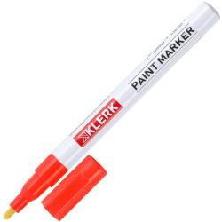 Маркер-краска пулевидный 1-2мм алюминиевый корпус KLERK ZEYAR 170404 красный