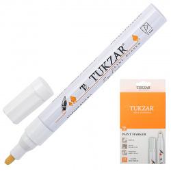 Маркер-краска пулевидный 2мм Tukzar Spectrum Белый круг TZ 5571