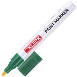 Маркер-краска пулевидный 2-4мм алюминиевый корпус KLERK ZEYAR 170412/ZP-1501/C-06 Green зеленый