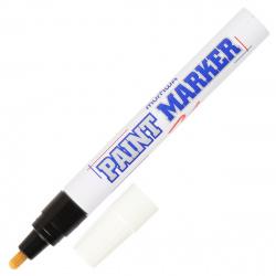 Маркер-краска пулевидный, лаковый, 4,0мм, корпус алюминиевый, цвет черный   MunHwa PM-01