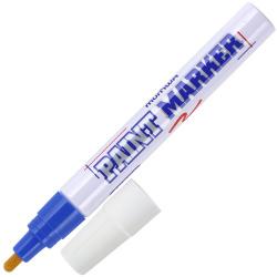 Маркер-краска пулевидный, лаковый, 4,0мм, корпус алюминиевый, цвет синий   MunHwa PM-02