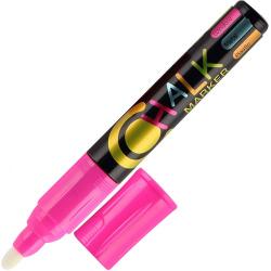 Маркер меловой пулевидный 2,5мм Flexoffice FO-CM01 Pink розовый