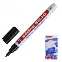 Маркер специальный пулевидный 1мм для текстиля Edding Е-8040/35721черный