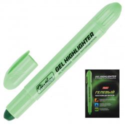 Текстовыделитель гелевый выкручивающийся Хатбер-М BTt_00304 зеленый флуоресцентный
