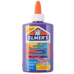 Клей для слаймов 147мл Elmers Clear Glue 2109502 фиолет