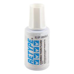 Корректирующая жидкость 20мл водн/кисть Retype  BW-310/000