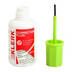 Корректирующая жидкость 20мл водн/ KLERK 209435