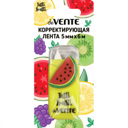 Корректирующая лента 5мм*6м deVENTE Tutti-Frutti. Watermelon 4062005 желт корп