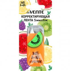 Корректирующая лента 5мм, 6м, съемный колпачок, блистер, европодвес Tutti-Frutti. Kiwi deVENTE 4062007