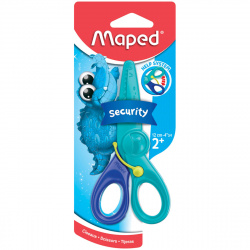 Ножницы 120мм детские с усилителем Maped Kidipulse 472110 безопасные пластиковые лезвия европодвес