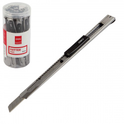 Нож канцелярский 9мм автофиксатор металлический усиленный Deli SK-5 Е2058T туба