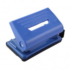 Дырокол до 10 листов, пластик, линейка, 2 пробивных отверстия, цвет синий Attomex 4020902