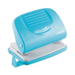 Дырокол на 20л пластиковый с линейкой deVENTE Neon 4020328 голубой