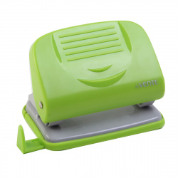 Дырокол на 20л пластиковый с линейкой deVENTE Neon 4020329 зеленый