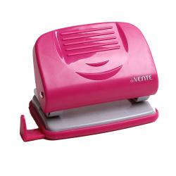 Дырокол на 20л пластиковый с линейкой deVENTE Neon 4020331 розовый