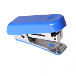 Степлер №10 мини до 10л пластиковый корпус с антистеплером Attomex 4142315 синий