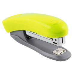 Степлер №10 до 10л пластиковый корпус с антистеплером deVENTE Neon 4142803 неоновый желтый