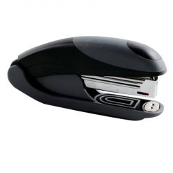 Степлер №10, до 15 листов, корпус пластиковый, антистеплер, резиновые вставки, цвет серый OMAX  Eagle S5151B/ср-чрн