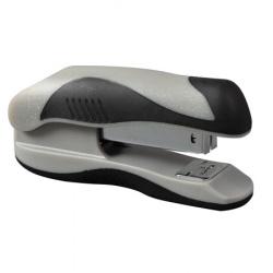 Степлер №24/6, до 20 листов, корпус пластиковый, антистеплер, резиновые вставки, цвет черный Eagle  Alpha S5023B/с-ч