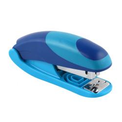 Степлер №24/6, до 20 листов, корпус пластиковый, антистеплер, резиновые вставки, цвет голубой Eagle  OMAX S5131B/сн-глб