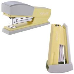 Степлер №24/6, №26/6, до 20 листов, корпус пластиковый, антистеплер, цвет желтый KW-trio   055X6-YEL