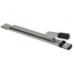 Степлер №24/6-26/6 брошюровочный до 25л металлический корпус Deli E0334 серый 2 режима скрепления