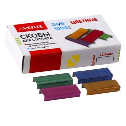 Скобы для степлера №24/6 1000шт deVENTE 4141901 цветные
