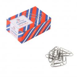 Скрепки 25мм 100шт оцинкованные овальные Attomex 4135300 картонная коробка
