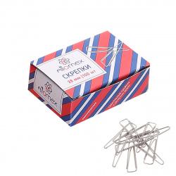 Скрепки 28мм 100шт оцинкованные треугольные Attomex 4135305 картонная коробка
